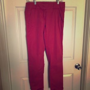 Loft Chino's- Beautiful Holiday Red!